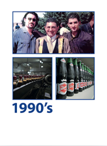 George A. Haggar and Anthony A. Haggar joined the family business. Start of acquisitions and green fields operations starting with the acquisition of Pasgianos Food & Beverage Company.